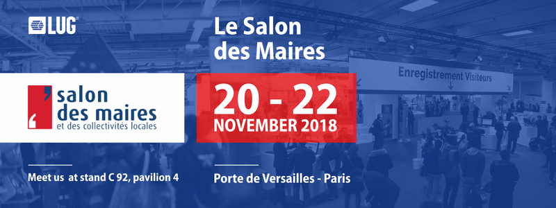 LUG AT THE LE SALON DES MAIRES EXHIBITION IN PARIS