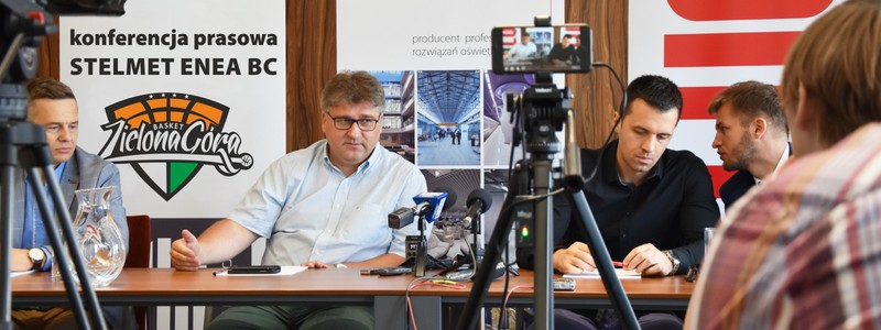 Press conference of Stelmet Enea BC at LUG Light Factory